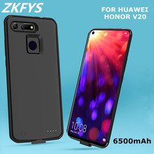 ZKFYS 6500mAh Ultra Thin Fast Charger Battery Cover For Huawei Honor V20 Charging Power Bank  Case