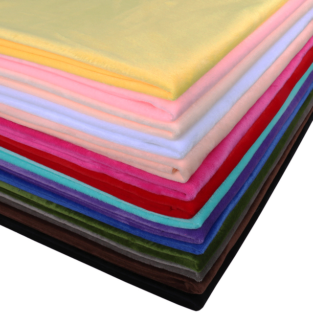 Nanchuang Tecido de Pelúcia Curto Super Macio Sapatos de Pano Para DIY Artesanais Travesseiro Brinquedos Pijama Roupas de Cama Costura Material 50x160 cm