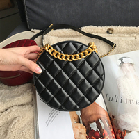 Customized high quality Genuine Leather bags for women 2019 Lingge Chain Planet bag