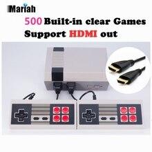 Ретро Семья HDMI Mini ТВ игровой консоли HD видео классический Портативный игры игроки Встроенный 500 игр HD Выход двойной геймпад управления