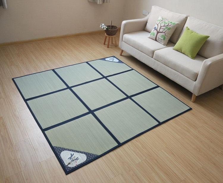 180x180cm tapis pliable et tapis pour chambre à coucher, salon Style japonais tapis pliant tapis carré tapis pour été tapis de couchage