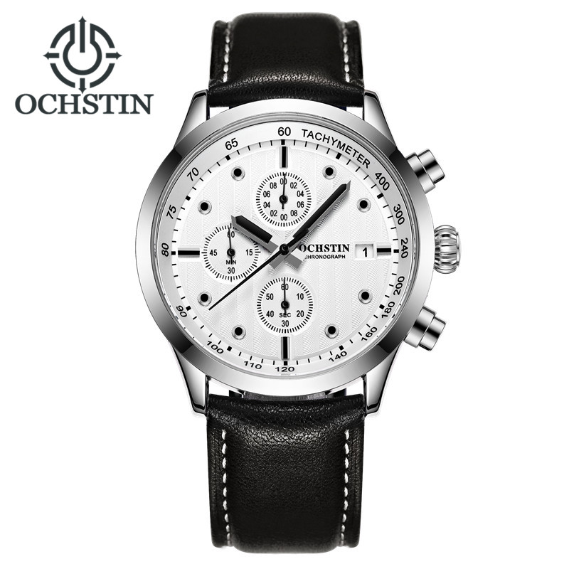 Top Luxury Brand Ochstin Men Sports Watches Men's Quartz Date Leather Army Military Wrist Watch Relogio Masculino Clock Man luxury brand men s quartz date week display casual watch men army military sports watches male leather clock relogio masculino