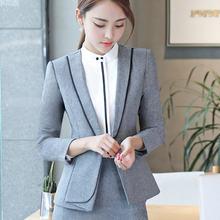 Primavera y otoño invierno de manga larga profesional traje Formal falda  pantalones entrevista ventas trabajo( 2fd027ecdfa6