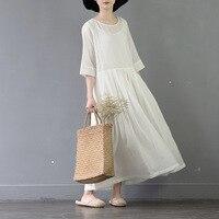 Temperament White Mori Girl 2018 New Spring Summer Women S Original Art Fan Half Sleeves Elegant