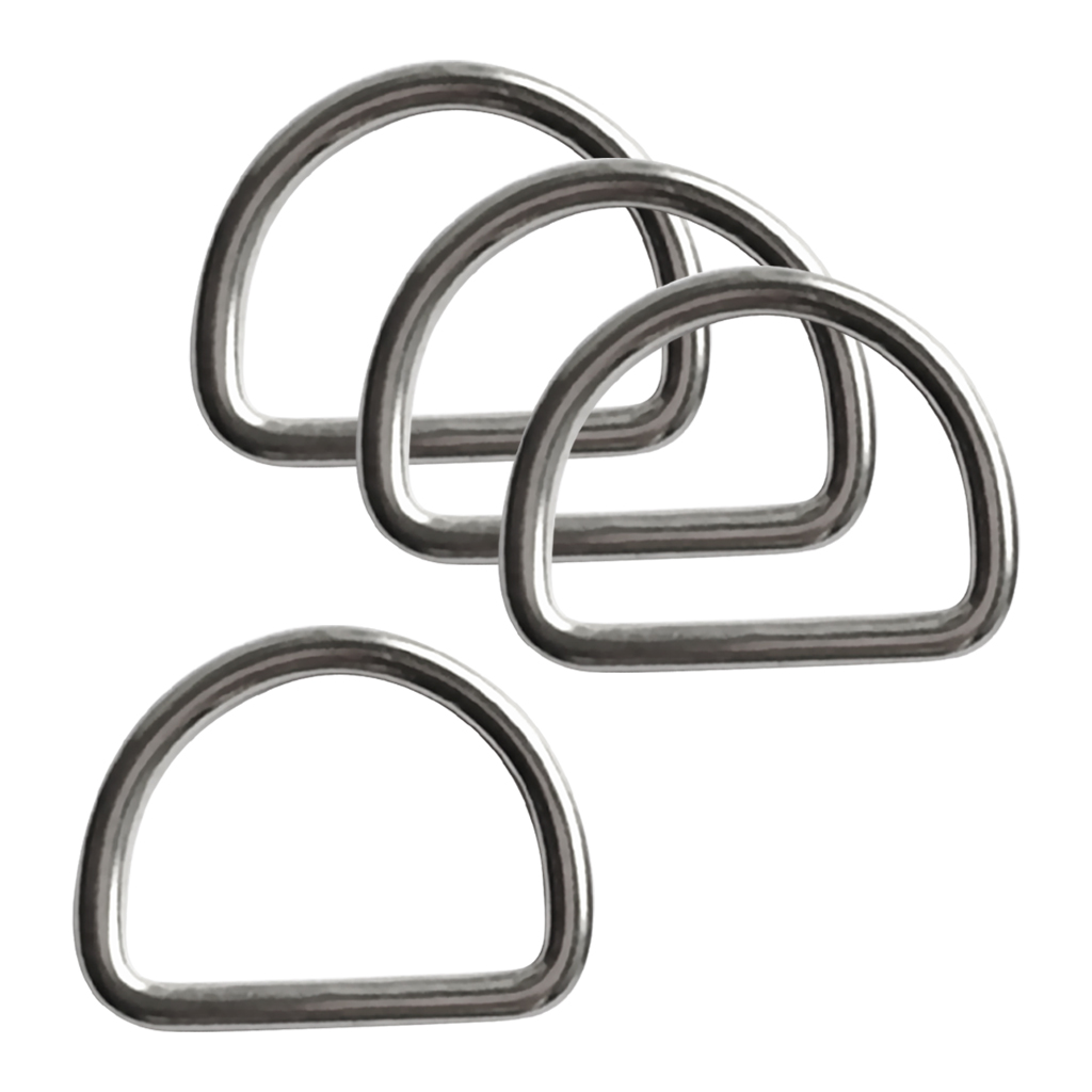 4pcs Diving Scuba D Ring For 1.2' Webbing Harness Corrosion Resistance 316 Stainless Steel For Industrial Snorkeling Application