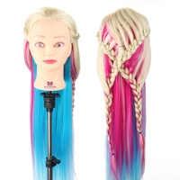 Frisur Puppe 26 ''-28'' Lange Haar Mannequin Kopf 4 Farben Flechten Styling Friseur Ausbildung Kopf Weibliche + clamp
