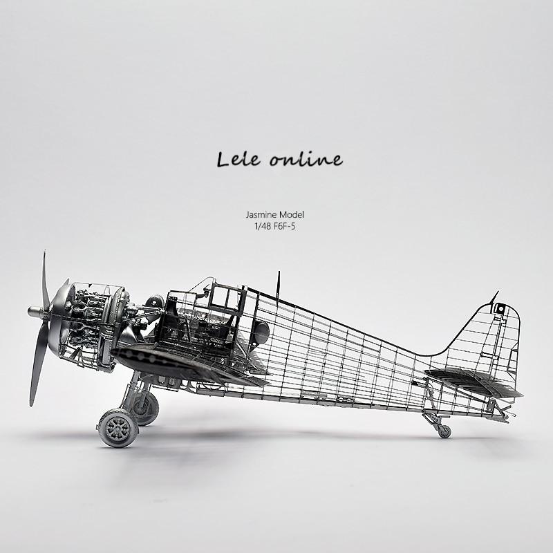 1/48 F6F-5 F6F enfer chat combattant haut de gamme 3D puzzle en métal assemblé avec colle seconde guerre mondiale modèle d'avion militaire pour vous