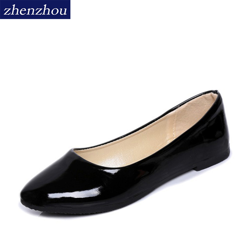 2017 spring and autumn new products south Korean women's shoes pure color female flat and large size candy color flat shoes spring and autumn new women fashion shoes casual comfortable flat shoes women large size pure color shoes