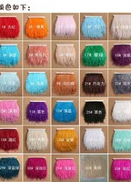 13 15cm wide ostrich feather fringe, 10yards/lot/color, 67different colors in stock for your choice