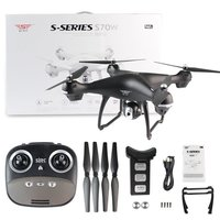 4 оси S70W Full HD 1080p 90 градусов широкий формат двойной GPS 2.4GHz Wi Fi/FPV системы беспилотный вертолет RC вертолеты самолета