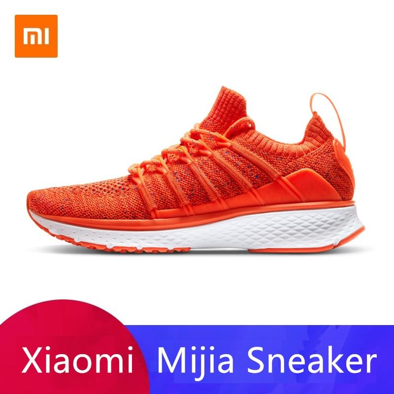 Original Xiaomi Mijia 2 baskets femmes chaussures intelligentes de course en os de poisson serrure Design Uni-moulage Techinique élastique tricot Vamp