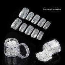 Чистые серебряные мелкие блестки большие шестигранные узоры для ногтей с блестками блестящая пыль блестящий дизайн ногтей в домашних условиях инструмент 3d Стразы для ногтей