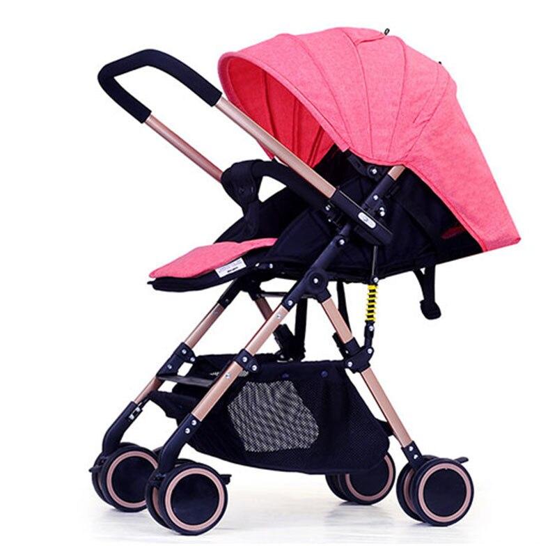 Adorbaby мешок Дети Путешествия Системы Высокая Земля пейзаж легкий Детские коляски обратного ручкой подлокотник корзина для хранения коляска