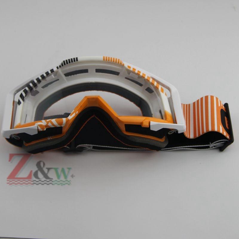 Clear Lense White Frame Ski Snowboard goggles Skiing Dirt Bike Motorcycle Motocross Dust-proof Goggles Windproof Eyewear Glasses