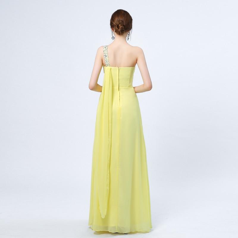 Ladybeauty 2018 Baru Elegant Satu Bahu A-Line Gaun Petang Panjang - Gaun acara khas - Foto 2