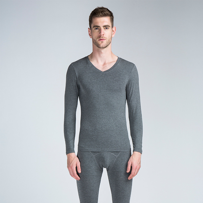 Trousers-Set Pajamas-Set Thermal-Underwear Sleep-Bottom Winter Mens Autumn And Soft Modal
