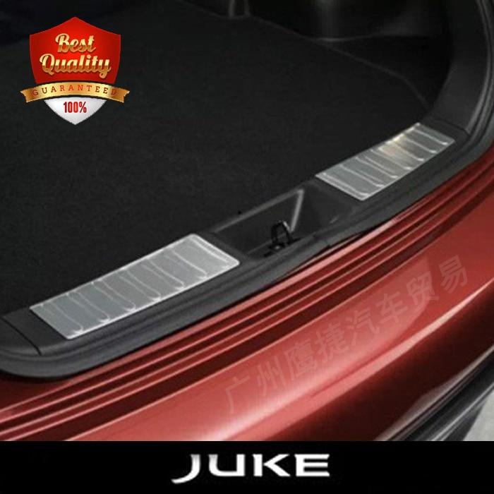 Prix pour Haute Qualité En Acier Inoxydable intégré dans pare-chocs arrière plaque de pied fit pour NISSAN JUKE 2010-2015 Auto arrière seuil couverture