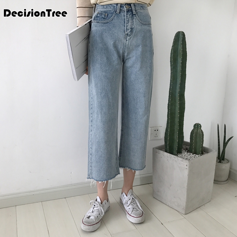 2019 summer fit skinny jeans woman white black high waist render elastic jeans vintage long pants femme casual pencil pants deni