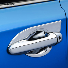 Car ABS Chrome handle Protective Cover Door Handle Outer Bowls Trim For Toyota RAV4 RAV-4 2016 2017 2018 2019