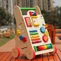 Многофункциональный ходунки дети деревянный малышей тележка игрушки