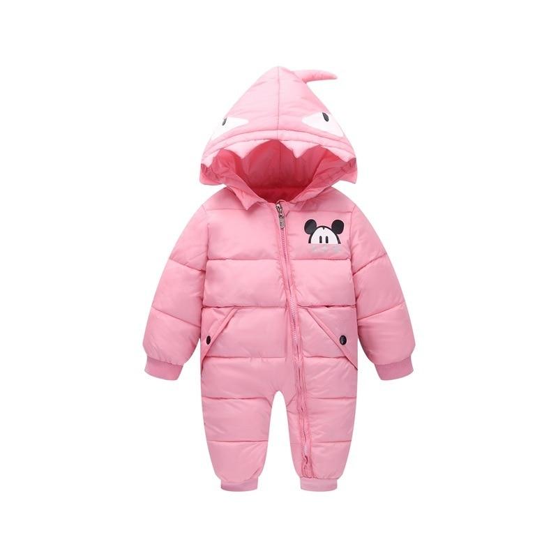 Moda Ropa de Bebé Recién Nacido Niña de Dibujos Animados Monstruo Estilo  Monos Mamelucos del Bebé Del Invierno Niños Espesar Con Capucha Traje Para  La Nieve ... 2c1b2f924cee