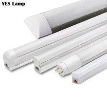 Светодиодный трубки T5 T8 Интегрированный свет 1FT 2FT 6 W 10 W Светодиодный лампах бра лампочки Lampara холодный теплый белый 110 V 220 V