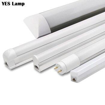 LED チューブ T5 T8 統合ライト 1FT 2FT 6 ワット 10 ワット LED 蛍光管壁ランプ電球ライトランパラコールドウォームホワイト 110V 220V