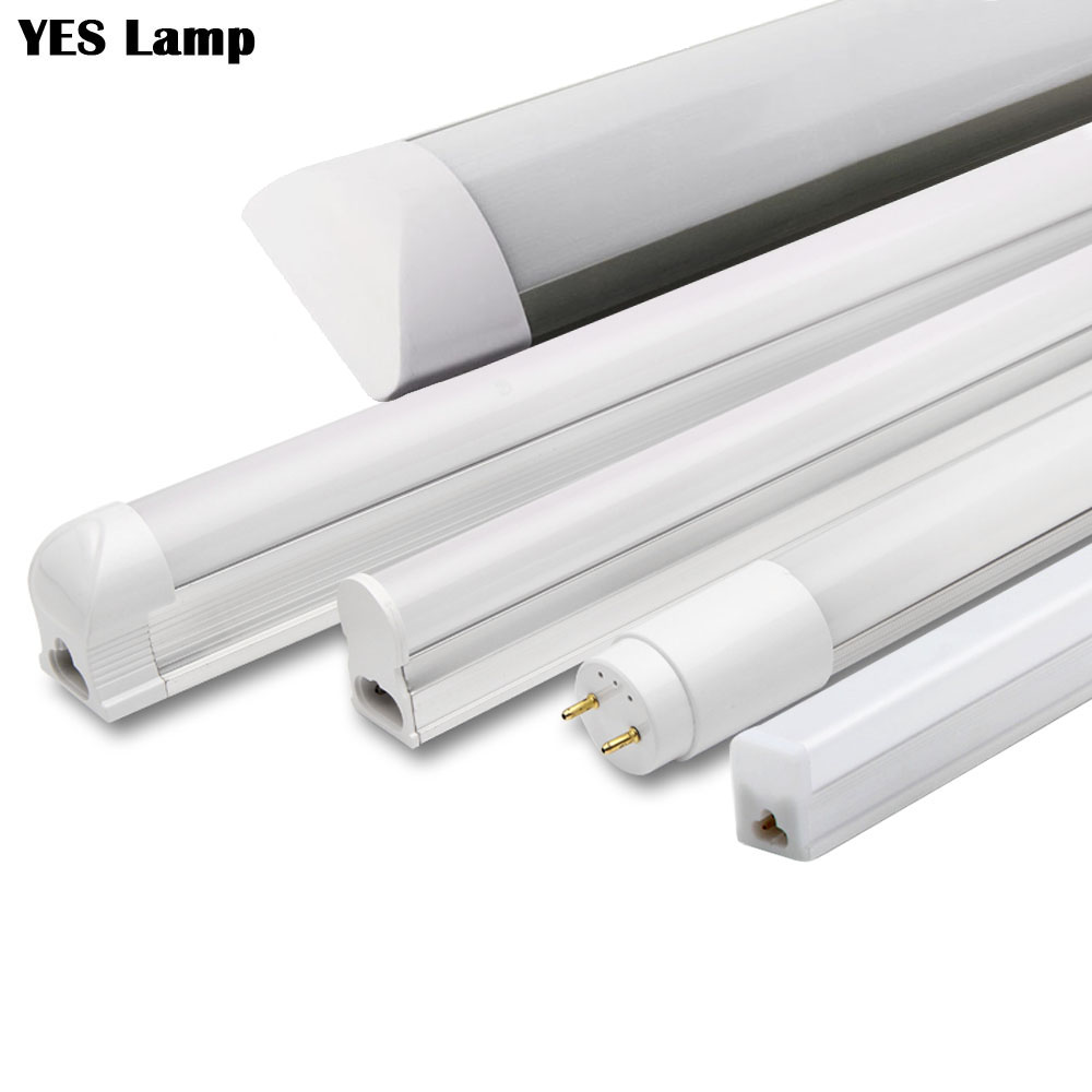LED Tube T5 T8 Integrated Light 1FT 2FT 6W 10W  LED Fluorescent Tube Wall Lamp Bulb Light Lampara Cold Warm White 110V 220V
