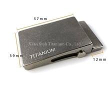 טהור טיטניום רולר חגורת אבזם אנטי אלרגי עבור חגורת רוחב 35mm / 38mm עובי בתוך 4mm