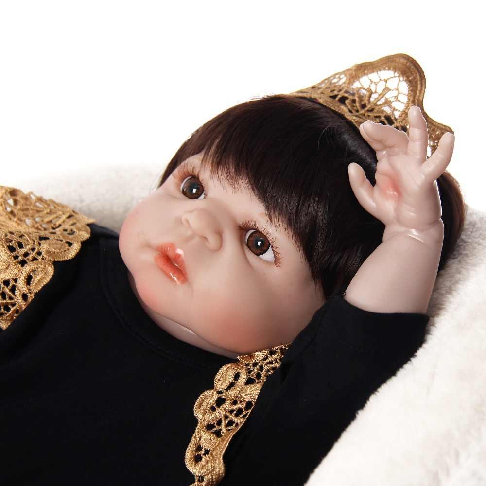 Оптовая продажа реалистичные 23 ''Reborn Boneca Полный Силиконовые Винил Тела 57 см Reborn для маленьких девочек игрушки куклы принцесса имитации детский приятель