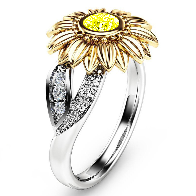 Crystal Sunflower Ring 5