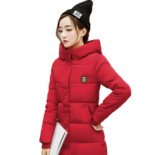 Winter Jacket Women Plus Size 3XL Thicken Warm Slim Long Outwear Hooded Parkas Female 2019 Brand Womens Cotton Padded Jacket