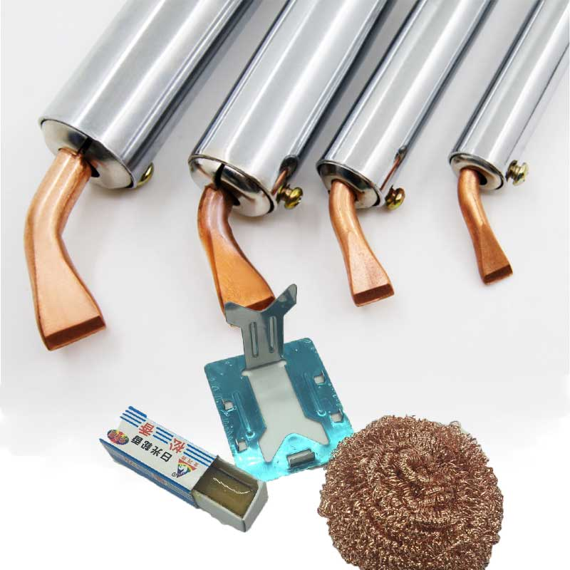Electric Soldering Iron Heavy Duty External Heat  50W 75W 100W 150W 200W 300W High Power Soldering Iron Chisel Tip Wood Handle