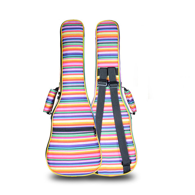 Portable durable thicker 21 26 ukulele bag soprano case lanikai tenor guitar backpack colorful pattern soft hawaii padded straps