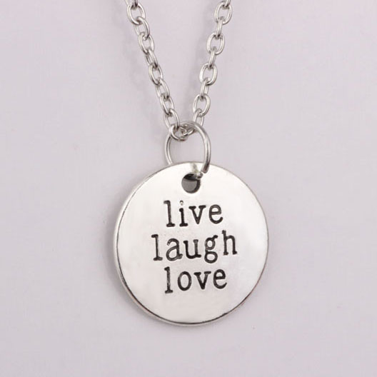 Personality letter charm pendant necklace 2018 new arrival live personality letter charm pendant necklace 2018 new arrival live laugh love necklaces jewelry for aloadofball Gallery