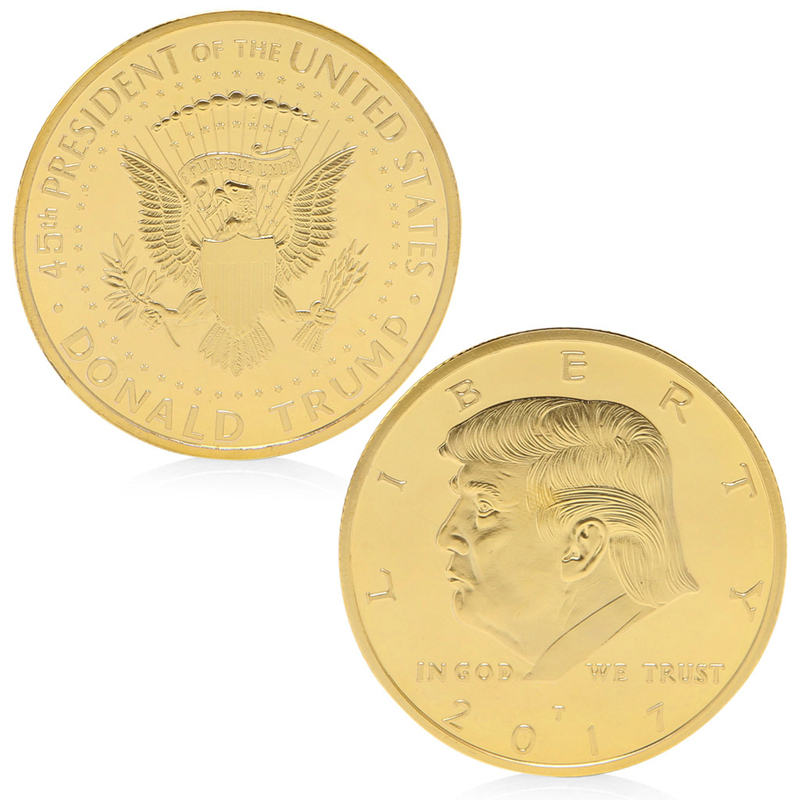President Donald Trump Design Commemorative Coin Zinc Alloy Commemorative Coin Collection Nocurrency Coins Gift Black Friday