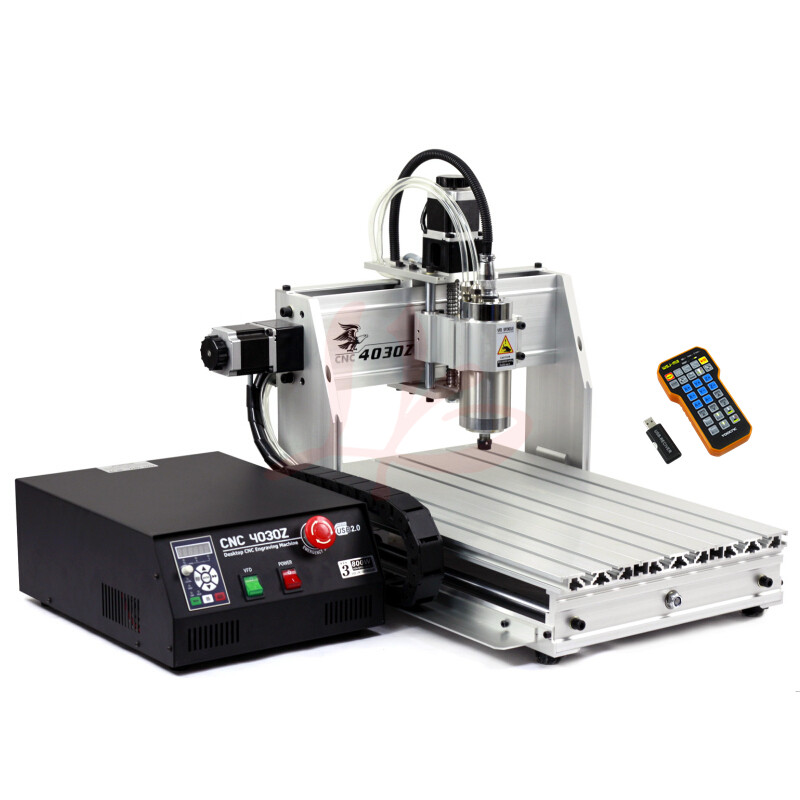 EU no ship and tax! high precision cnc 4030Z-800W USB 3axis 3D milling router machine with mach3 remote control cnc 5axis a aixs rotary axis t chuck type for cnc router cnc milling machine best quality