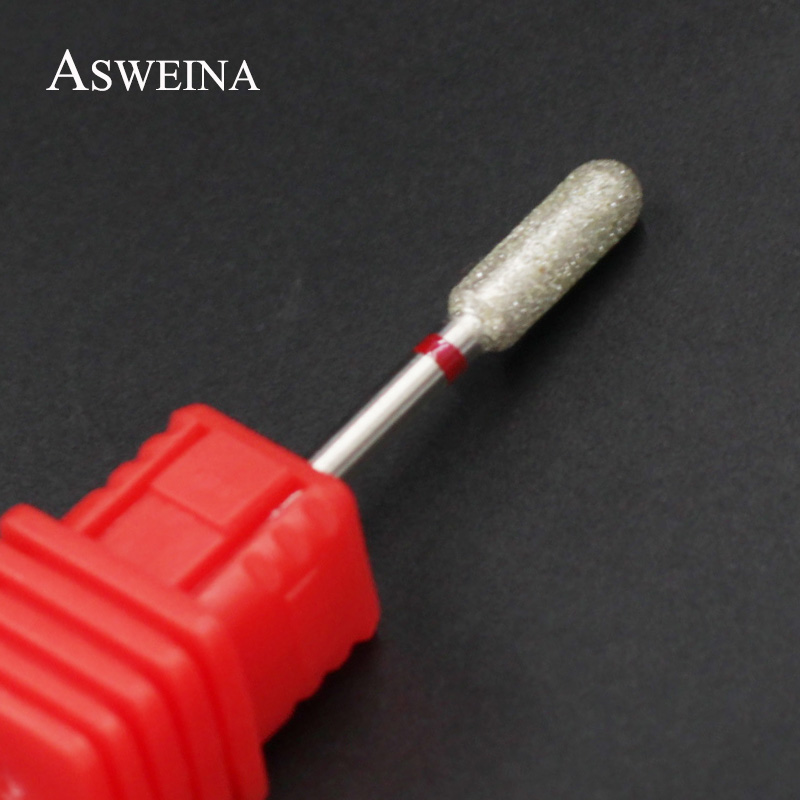 ASWEINA 1PC Fine Diamond Nail Drill Bit Rotary Burr Milling Cutter Electric Machine For Manicure Nail Clean Drill Accessory
