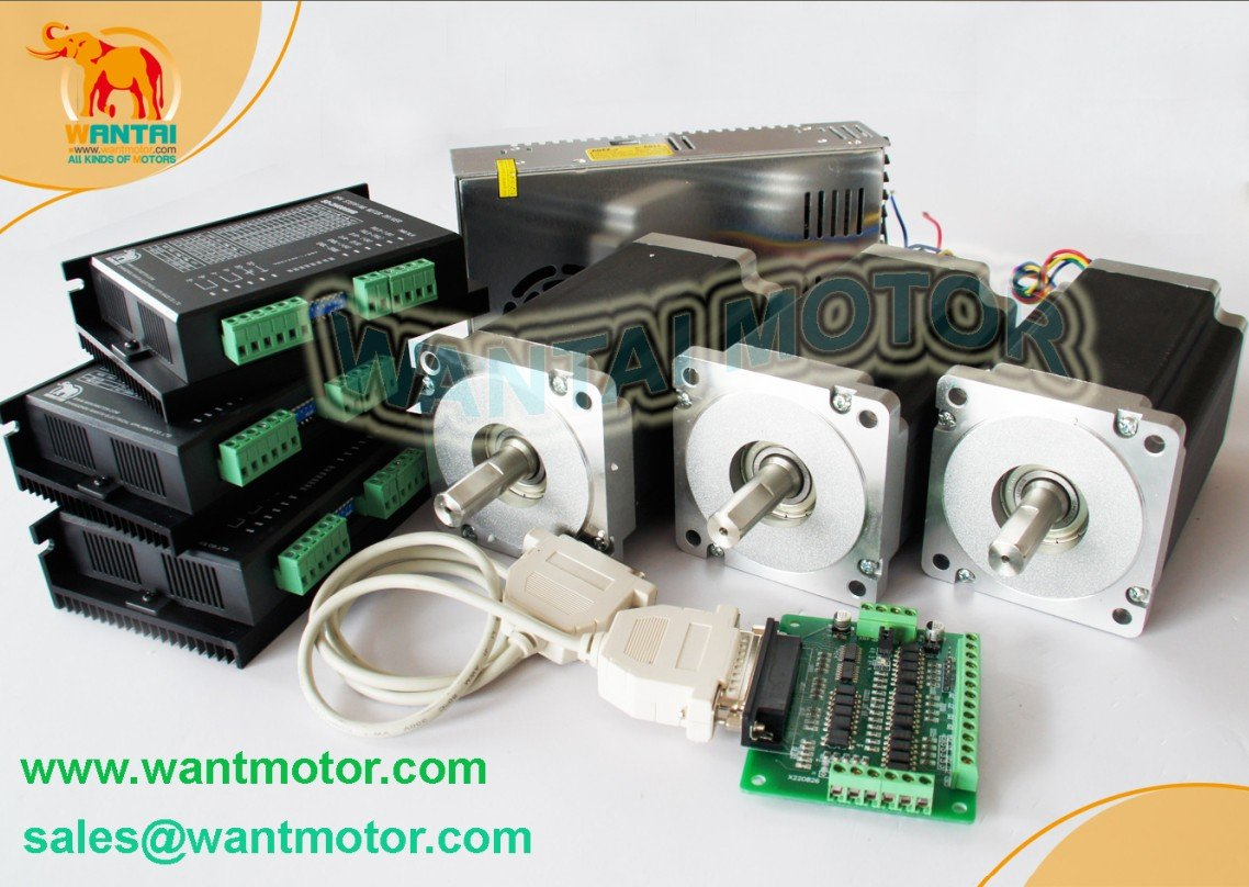 Wantai Nema 34 Stepper Motor with 892OZ-In &Control 3Axis CNC Engraving Machines & Mill german ship 5axis wantai nema 34 cnc stepper motor 892oz in spindle