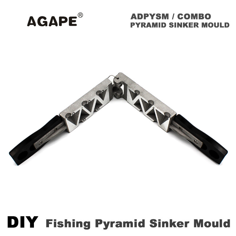 US $39 94 15% OFF|Agape DIY Fishing Pyramid Sinker Mould ADPYSM/COMBO 1oz,  2oz, 3oz, 1 5oz, 2 5oz 5 Cavities-in Fishing Tools from Sports &