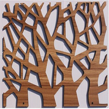 Wood carved board screen fashion cutout hanging partition chinese style entranceway background wall