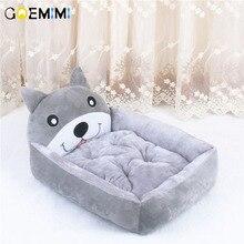 Cute Animal Cat Dog Pet Beds Mats Teddy Cartoon Sofa Bed House Big Blanket Cushion Basket Supplies S-XL