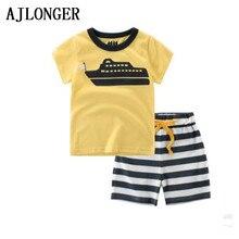 2017 Baby Boys Sets Summer Boys Sets Clothes T shirt+Short Pants Cotton Sports Printed Set Children Suit стоимость