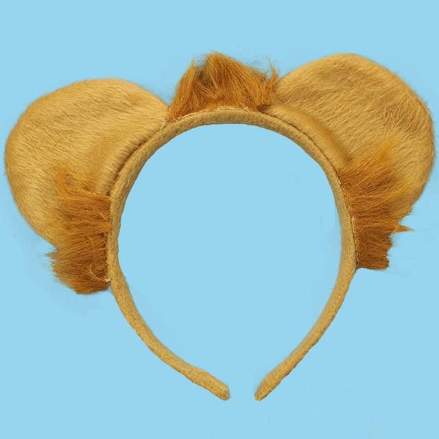 Kids Adult Animal Ear Headband Lion Headbands Halloween Party Costume  Cosplay Head Band Halloween Party Favor 53ab3e39f426