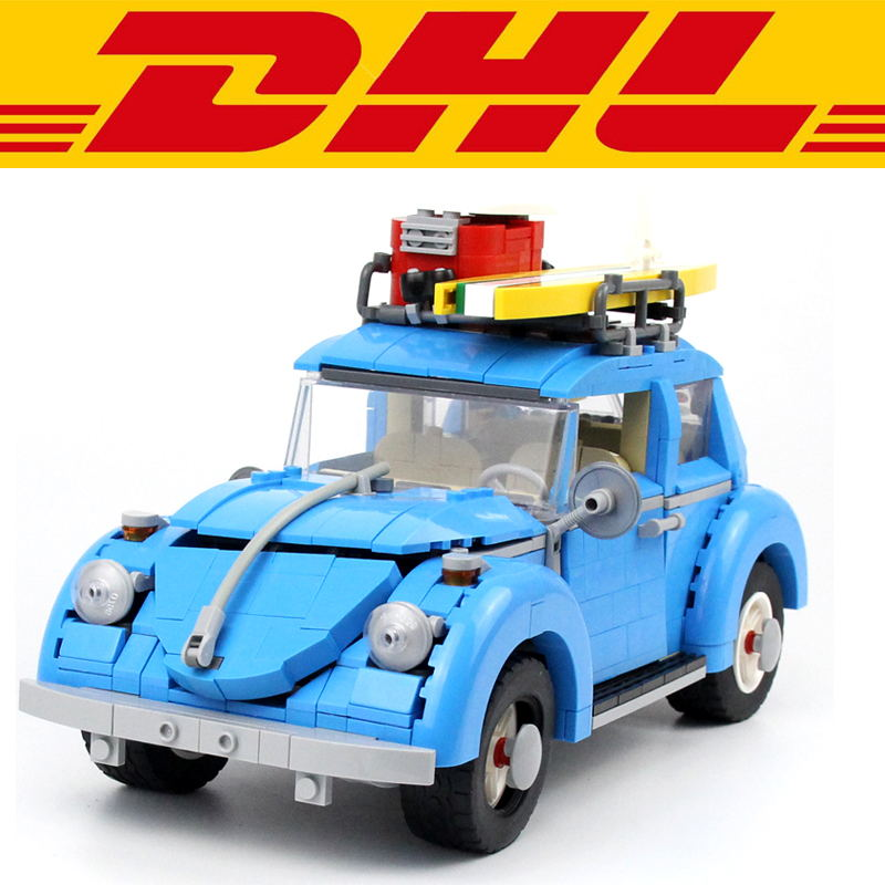 Yile 003 1193Pcs Technic Volkswagen Beetle Model Building Kits Blocks Brick Toy Vehicles For Children Gift Compatible With 10252 new lepin 21003 series city car beetle model educational building blocks compatible 10252 blue technic children toy gift