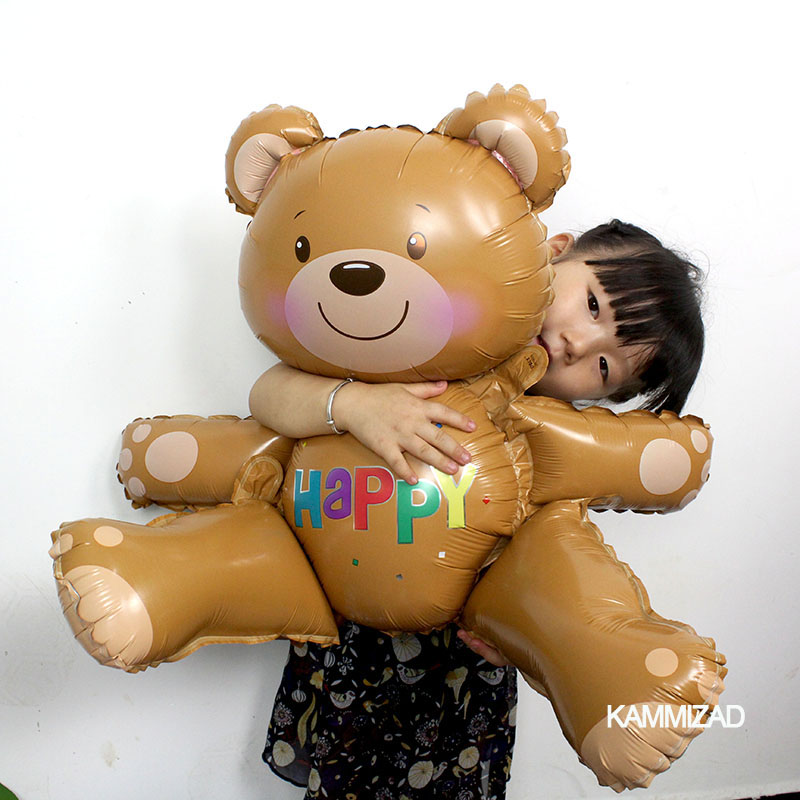 Large 3D Bear foil balloons Helium globos happy birthday balls inflatable toys baby shower wedding party supplies Classic Toys
