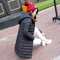 Bola de pêlo Com Capuz Mulheres Casacos de Inverno e Casaco Preto/Cinza Luz Mulheres de 2016 Para Baixo Casaco Parka Longo Casacos Quentes Feminino CO7001