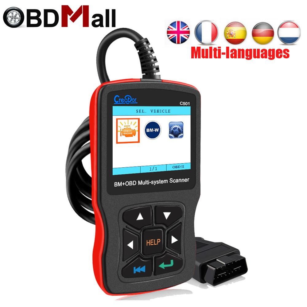Creator C501 car diagnostic obd II scanner BM+OBD 2 Multi-system scanner fault diagnosis Tools for BMW cars better than EML 327 top selling car diagnostic tool for bmw scanner 2 01 newer model than scanner 1 4 0 for 1 3 5 6 and 7 series lr10