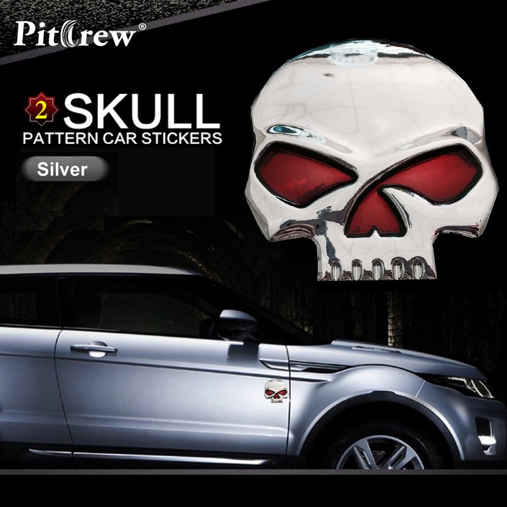 Car window sticker designs - Car Styling Decal Sticker Skull Design Logo Car Window Wall Art Decor Doors Helmet Truck Motorcycle