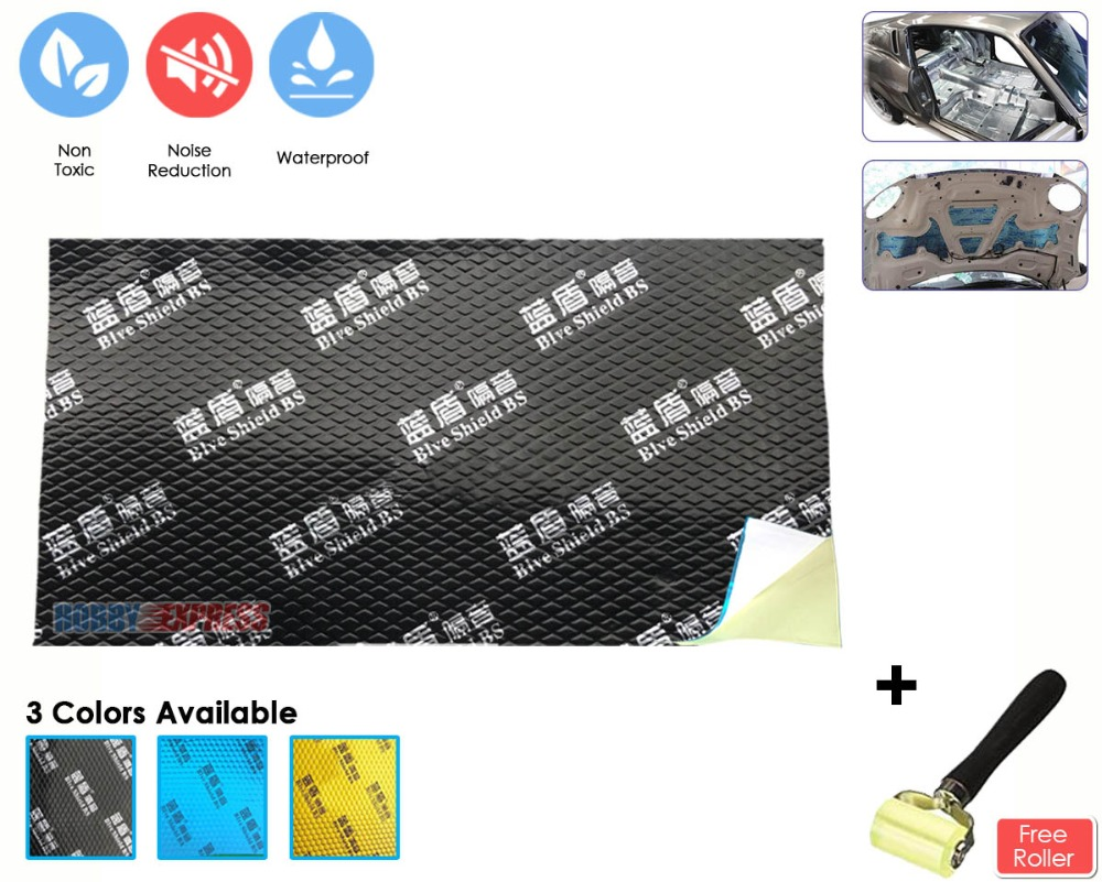 """Arruwzoom automotriz aislamiento acústico amortiguación adhesivo butilo caucho sonido Deadener 18,1 """"x 31,5""""-in Adhesivos para pared from Hogar y Mascotas    1"""